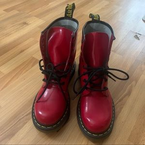 Dr. Martens 1460W Boots In Red